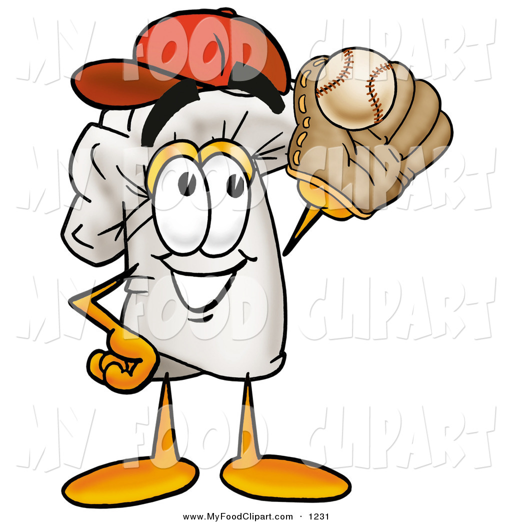 Food Clip Art Of A Sporty White Chefs Hat Mascot Cartoon Character