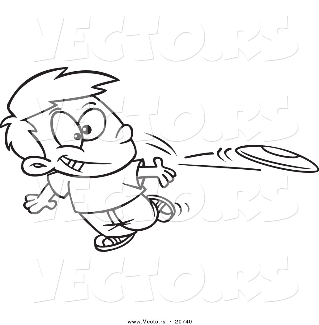 Throwing A Frisbee Clipart - Clipart Kid