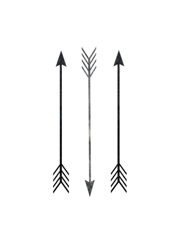 Printable Art Arrow Print Arrow Decor Black And White Three Strai
