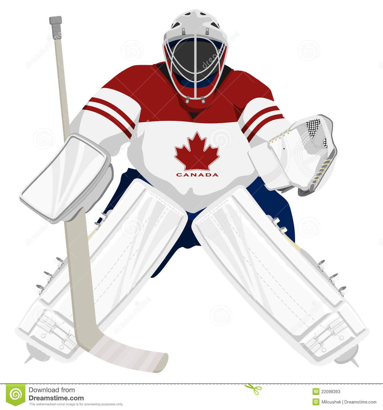 Ice hockey goalie clipart
