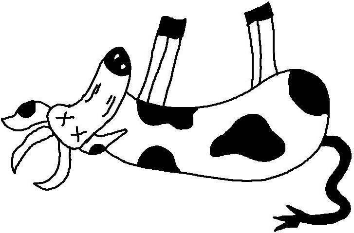 Dead Cow Clipart - Clipart Kid