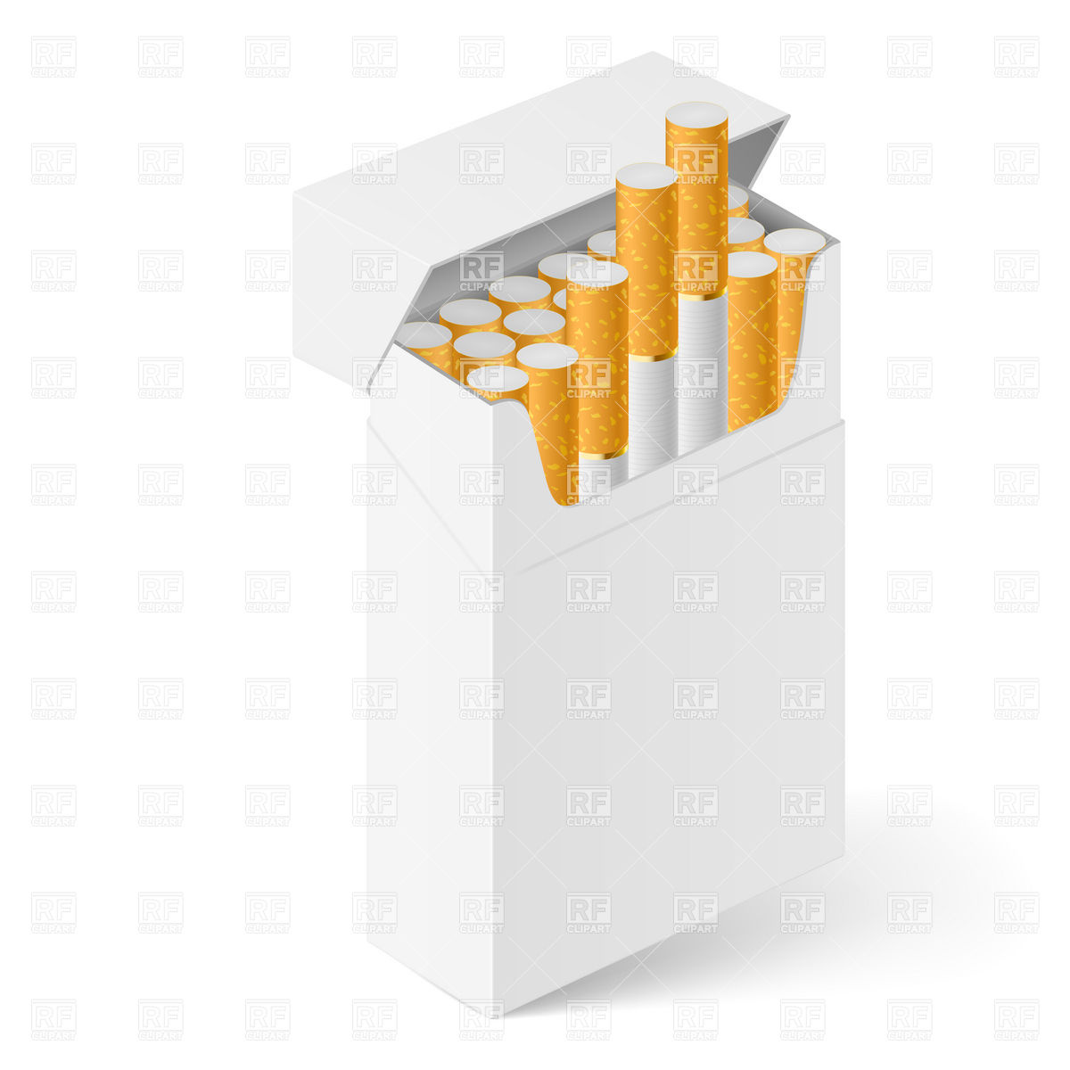 White Open Pack Of Cigarettes 9331 Objects Download Royalty Free