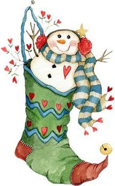 Victorian Snowman Clip Art