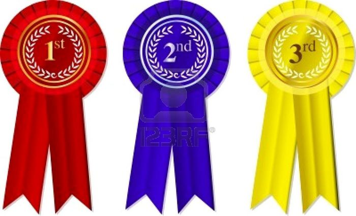 6538766 Rosettes And Ribbons 1st  2nd 3rd Place Jpg