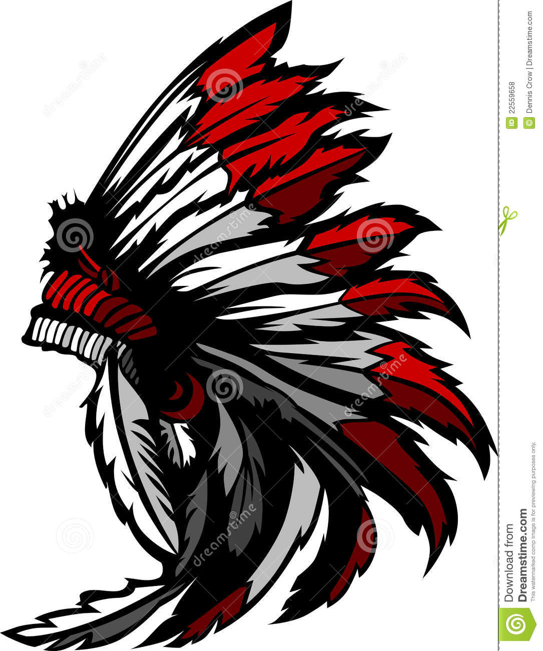 American Native Indian Feather Headress Royalty Free Stock Photos