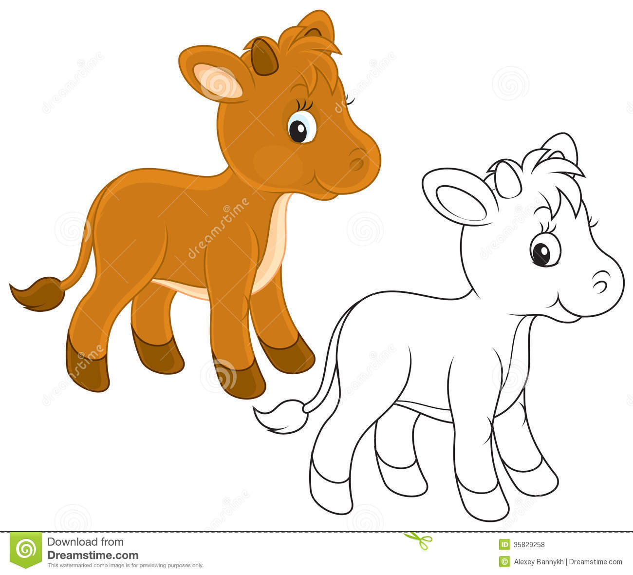 Baby Horse Clipart Black And White Calf Clipart Black And White