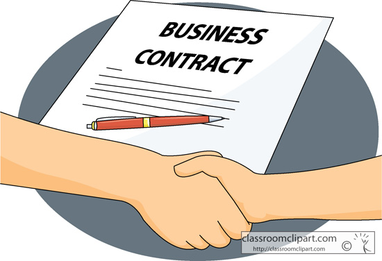Business   Business Contract Agreement   Classroom Clipart