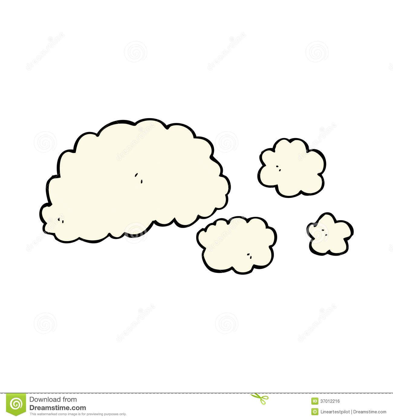 Cloud Of Smoke Cartoon Element Clipart