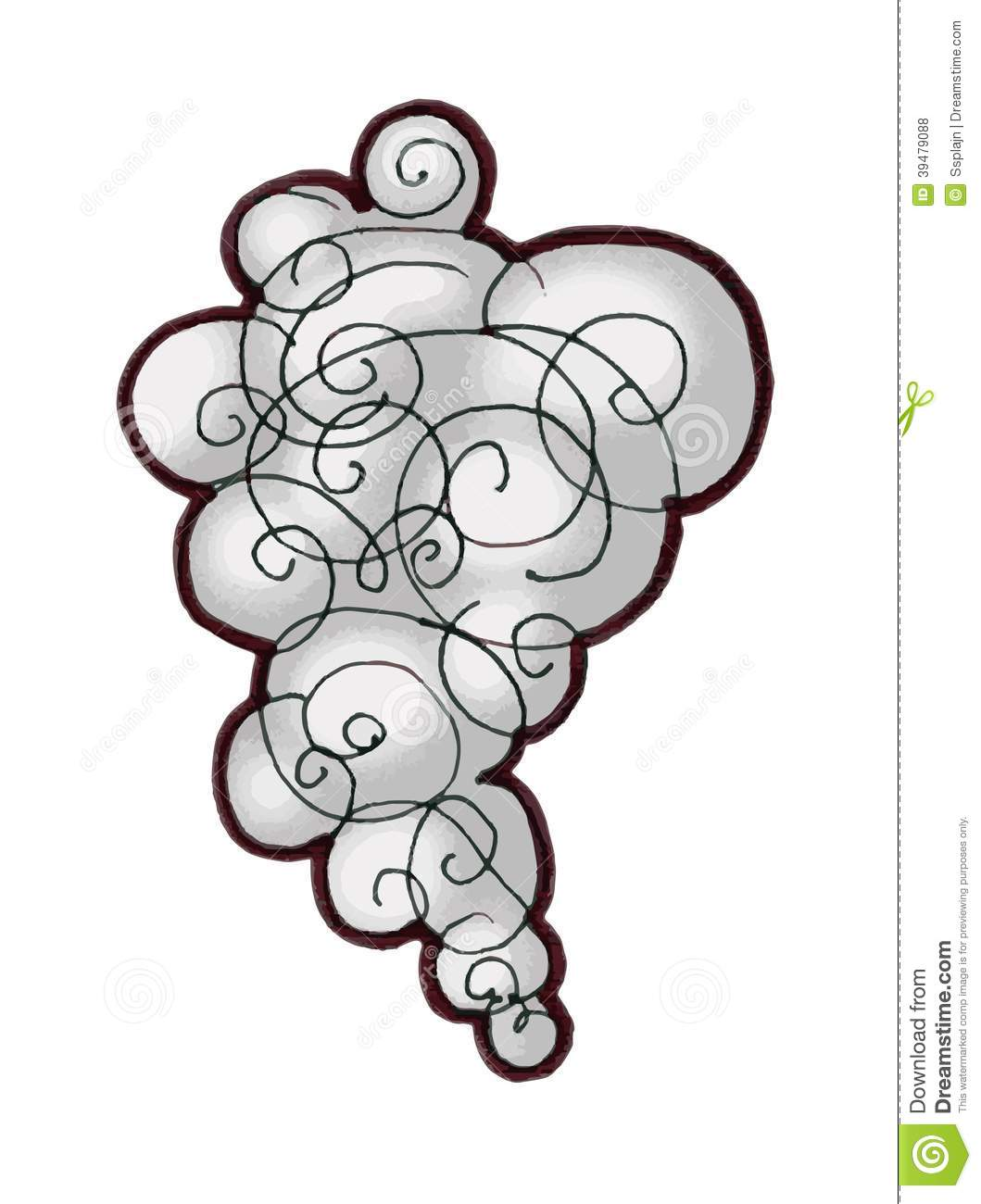 Cloud Of Smoke Clipart Smoke Bubble Cartoon