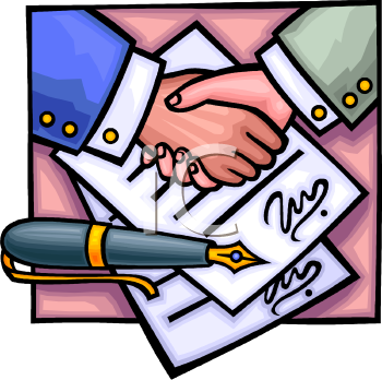 Contract Clipart 0511 0809 0703 4604 Signing A Contract Clip Art