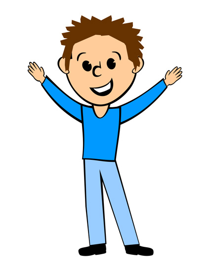 Good Guy Clipart Sales Guy In Blue Shirt   Free