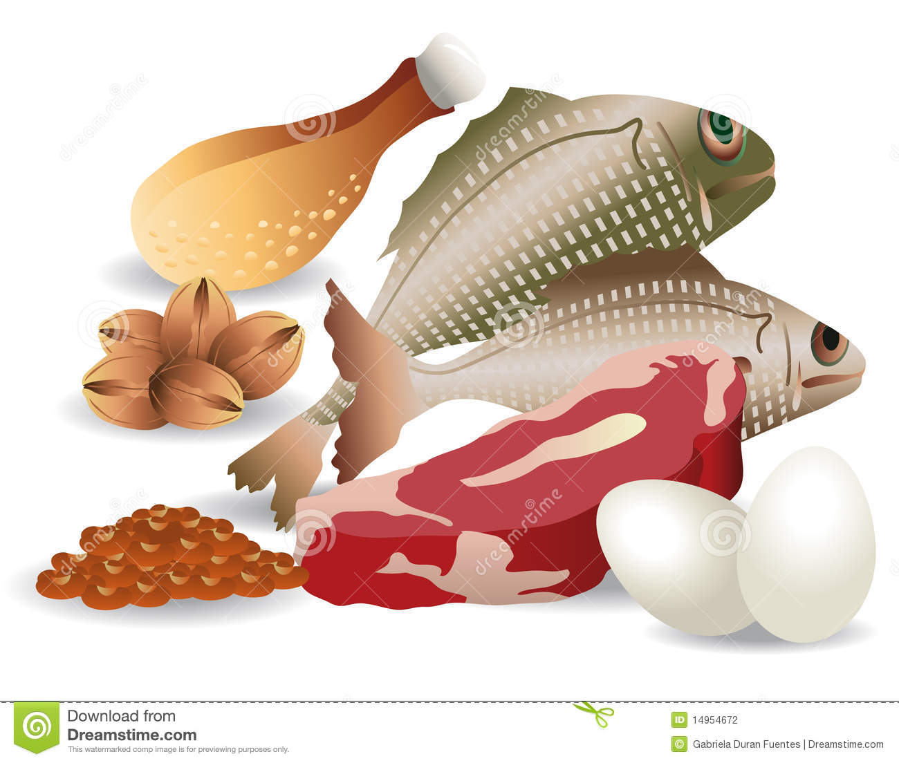 Meat Chicken Fish Clipart - Clipart Kid