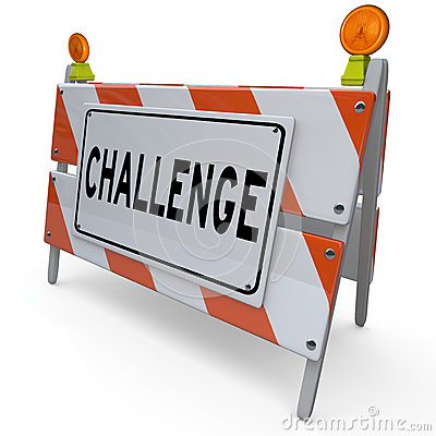 Overcoming Challenges Clipart Challenge Word Barricade