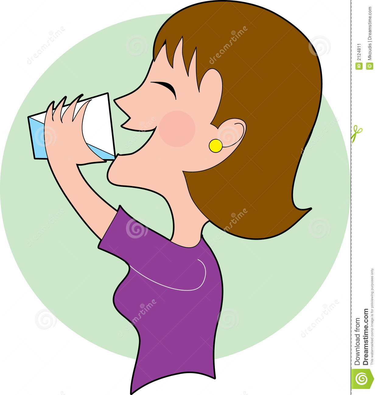 People Drinking Water Clipart Woman Drinking Water