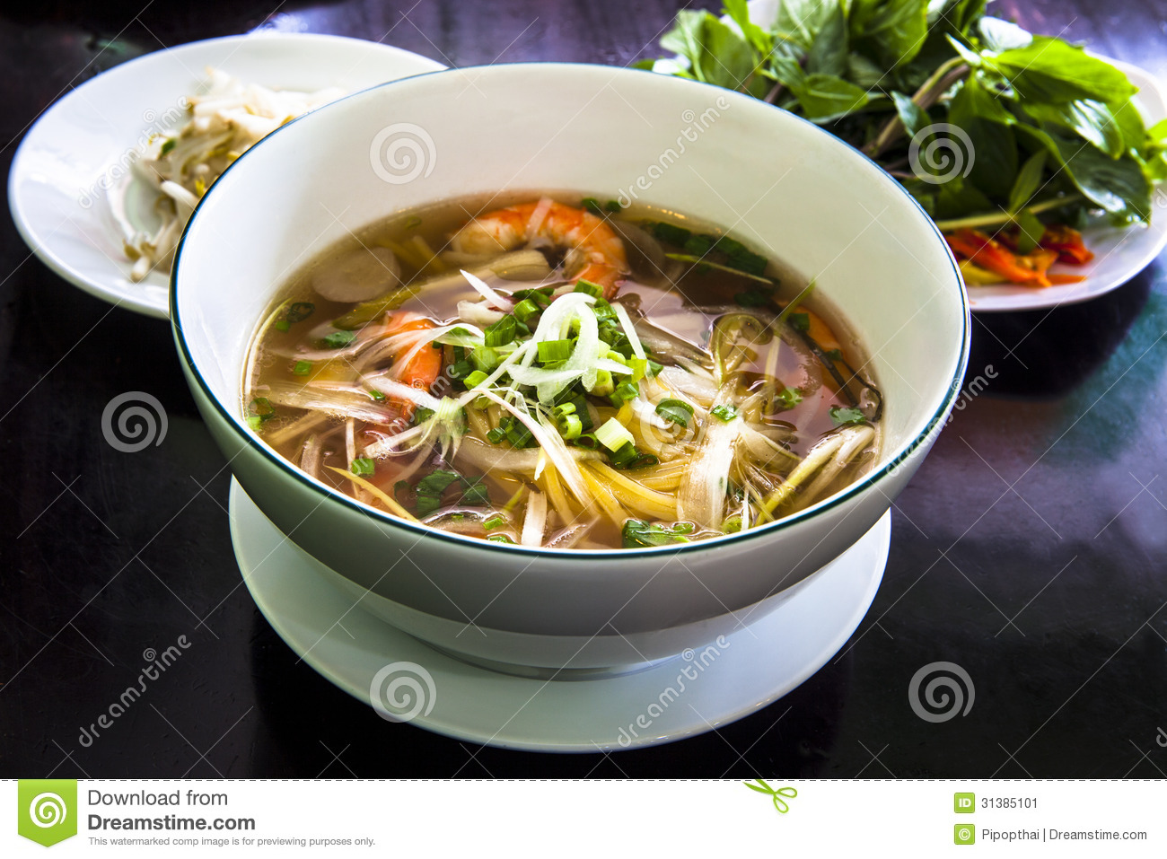 Pho Is A Vietnamese Noodle Soup Consisting Of Broth Linguine Shaped