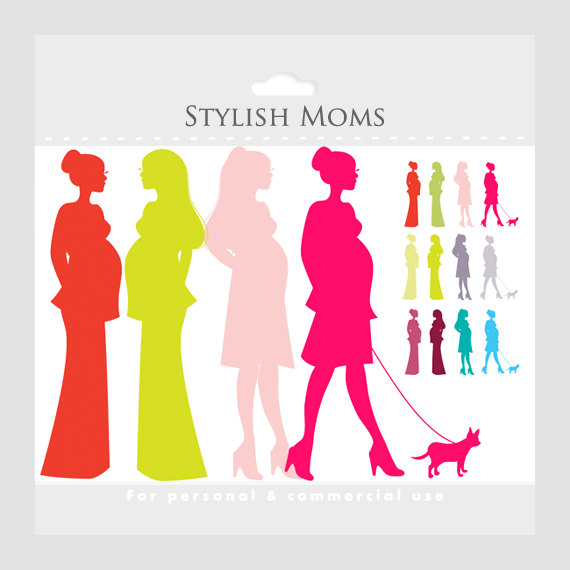 Pregnant Mom Clipart   Chic Moms Chic Pregnancy Clip Art Pregnant