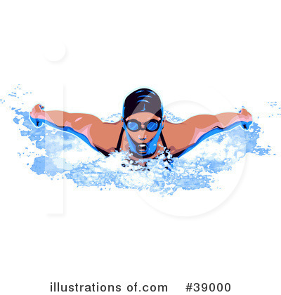 Royalty Free Swimming Clipart Illustration 39000 Jpg