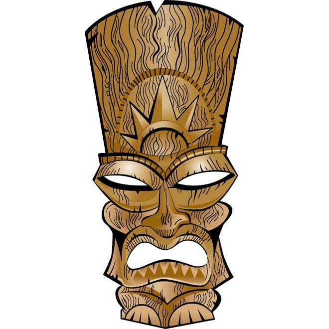 Tiki Free Vector   Download At Vectorportal