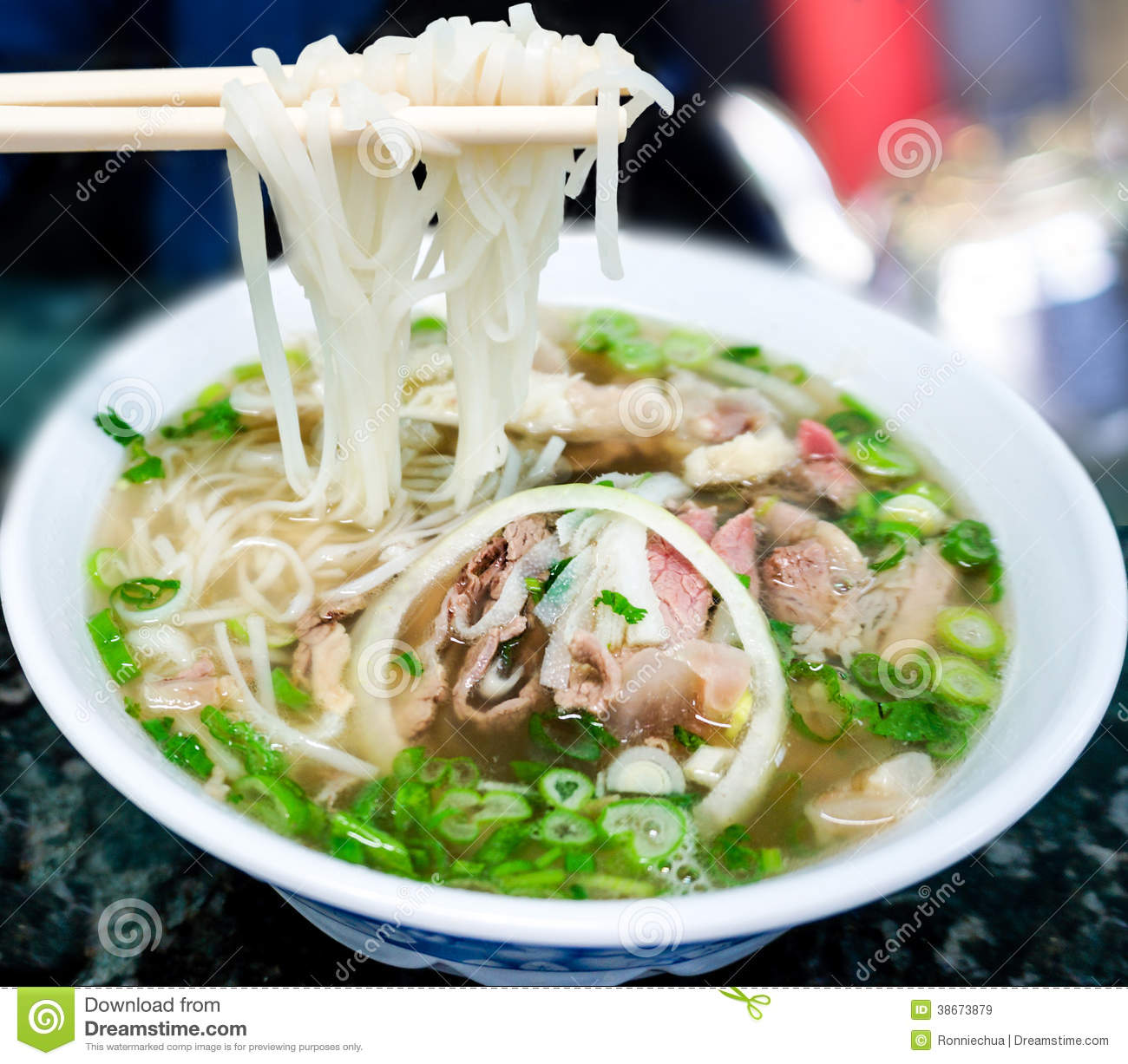 Traditional Vietnamese Pho Beef Noodle Soup Royalty Free Stock Images