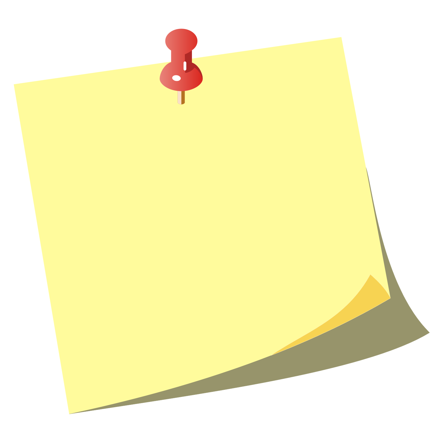 Vector For Free Use  Note Paper Icon