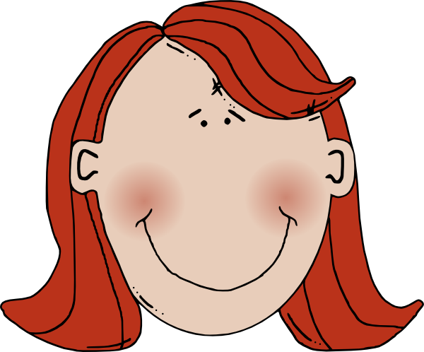 Womans Face With Red Hair Clip Art At Clker Com   Vector Clip Art
