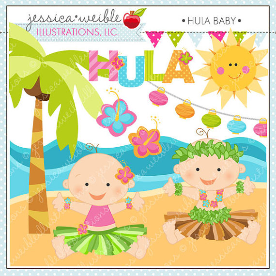 Baby Cute Digital Clipart For Commercial Or Personal Use Luau Clipart