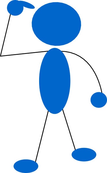 Blueman Thinking Clip Art At Clker Com   Vector Clip Art Online
