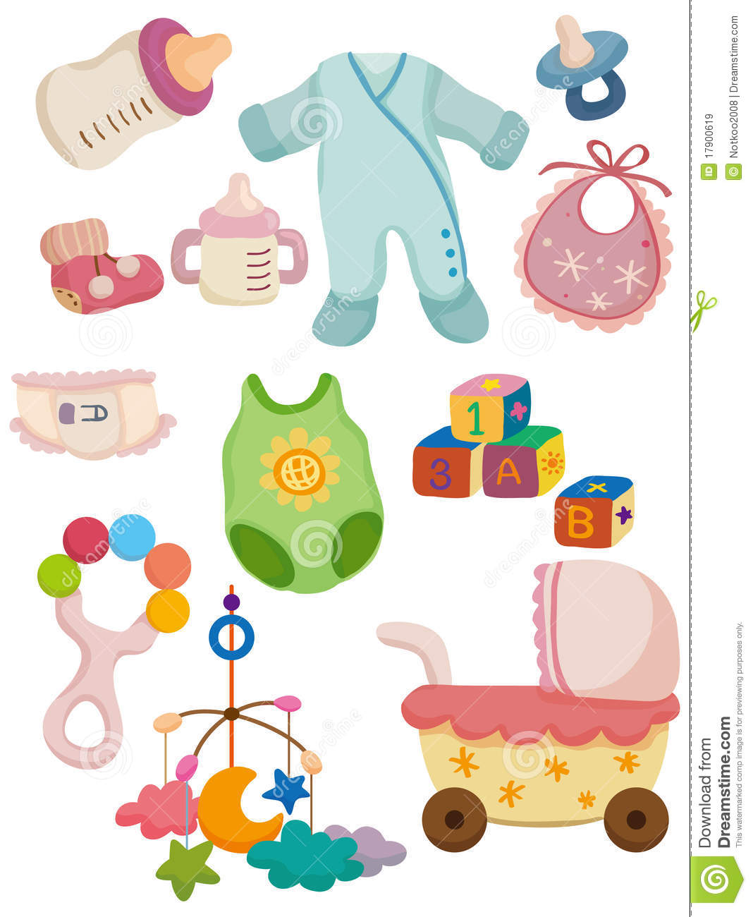 Cartoon Baby Stuff Icon Royalty Free Stock Images   Image  17900619