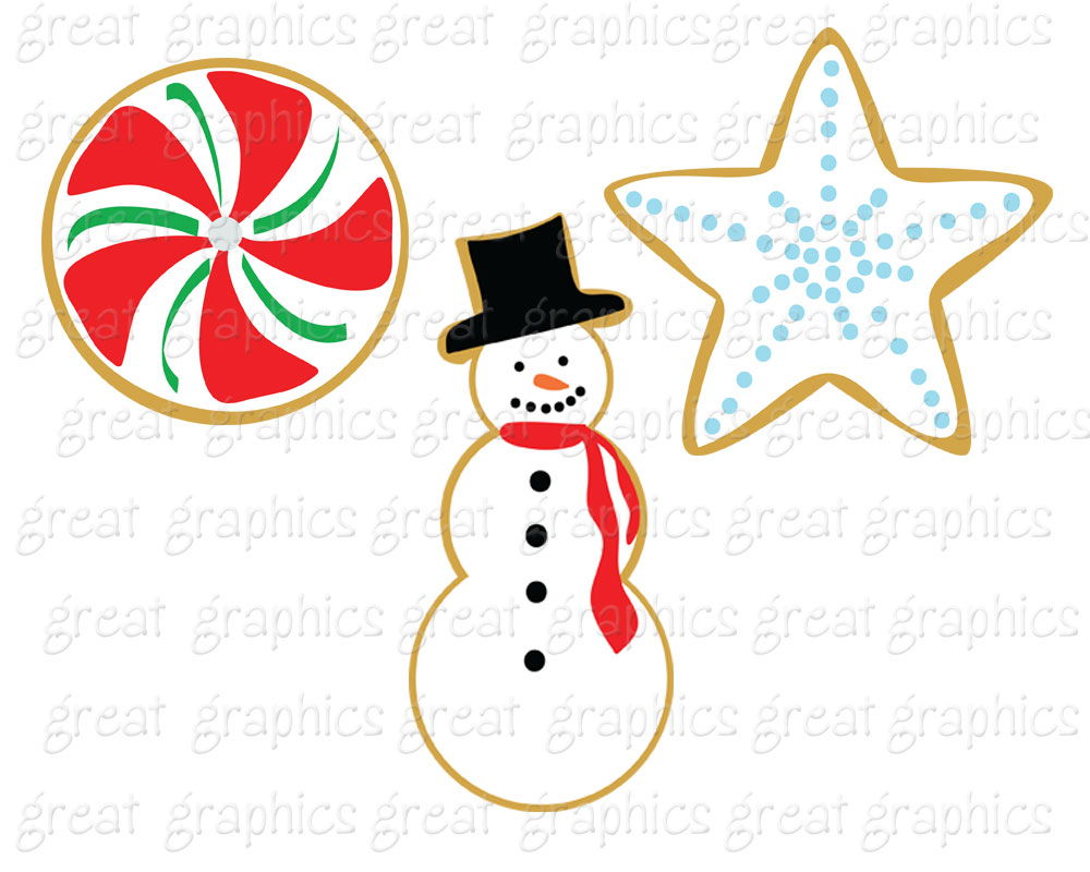 Clip Art Christmas Cookie Clip Art holiday cookie clipart kid clip art christmas digital printable swap art