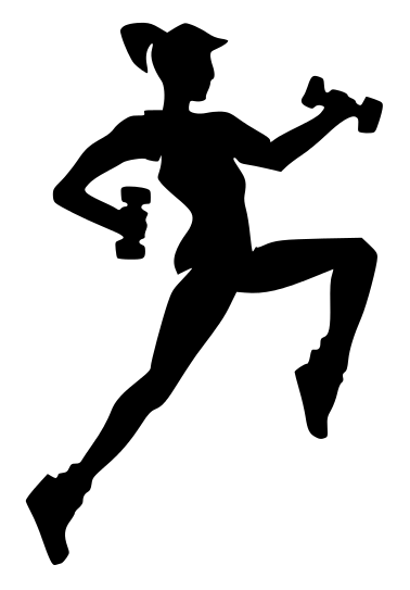 Fitness Silhouette Girl    Recreation Fitness Fitness Silhouettes