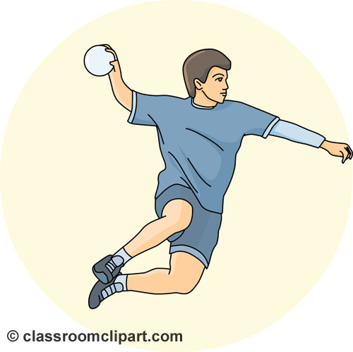 Handball Clipart   Handball Throw Ball 05   Classroom Clipart