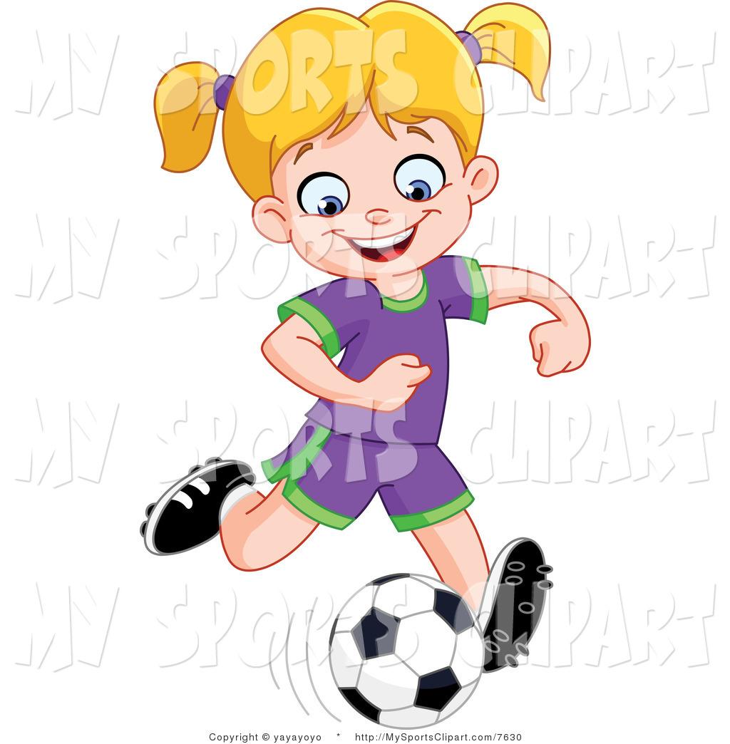 Soccer Girls Clipart - Clipart Kid
