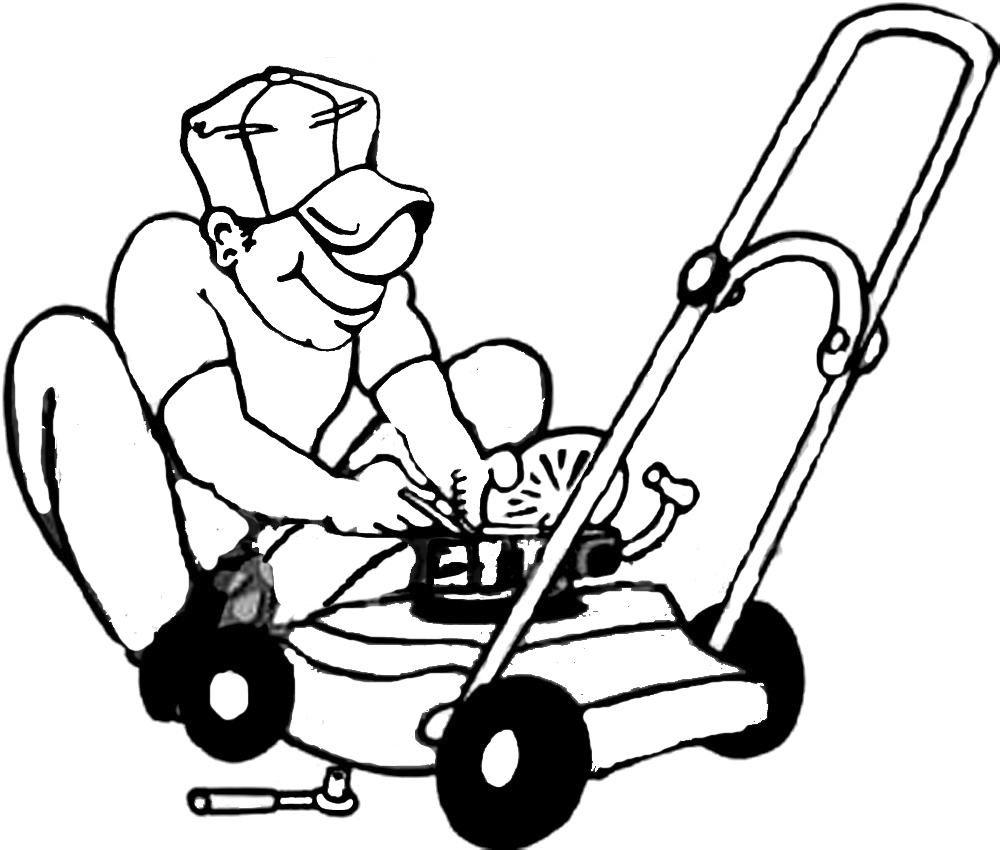 Lawn Mower Clipart Black And White   Clipart Panda   Free Clipart