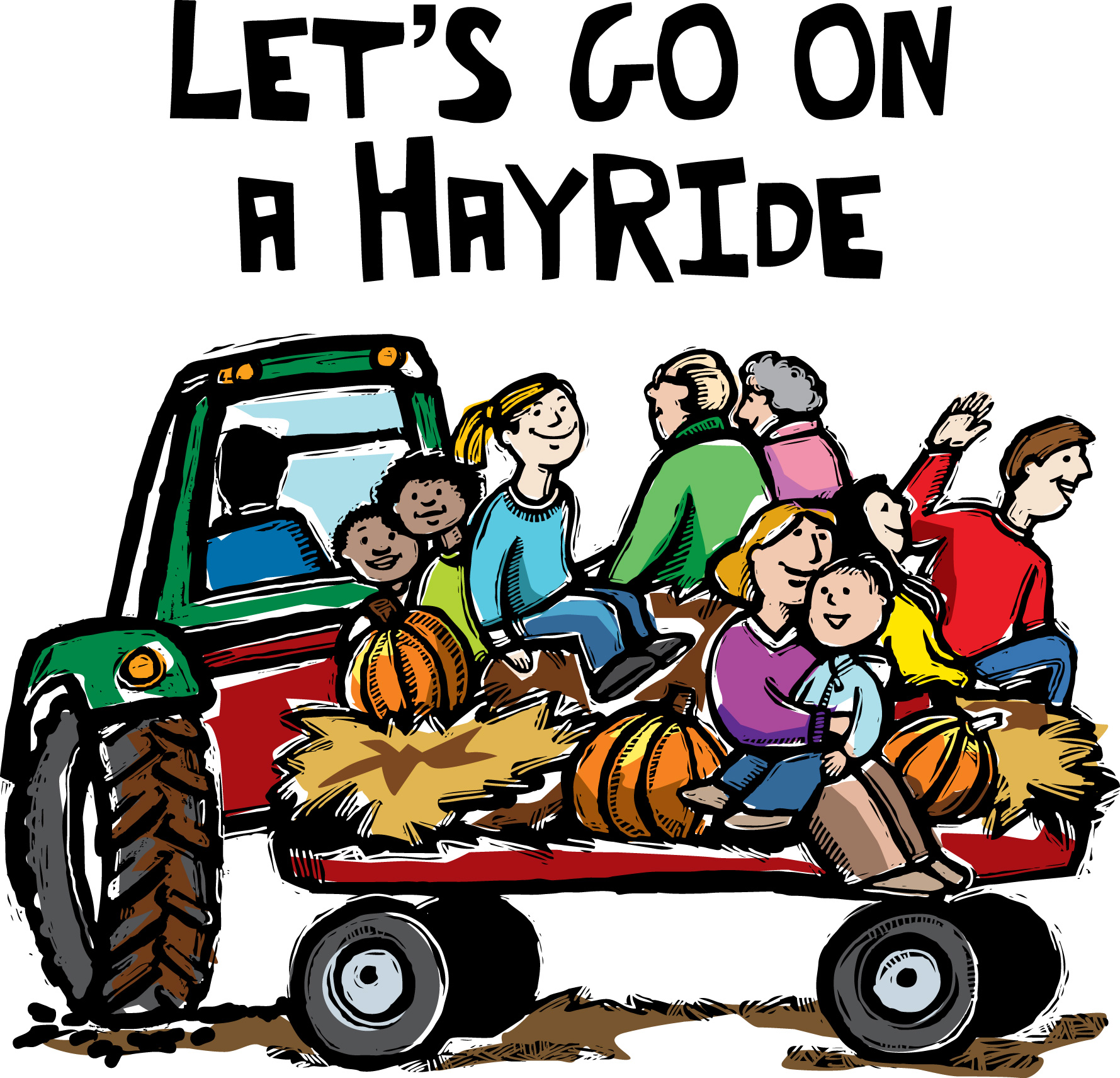 Clip Art Of Hayride And Bonfire Clipart - Clipart Kid