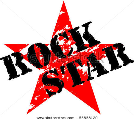 Rock Guitar Star Clipart Stock Vector Rock Star Rubber Stamp 55858120
