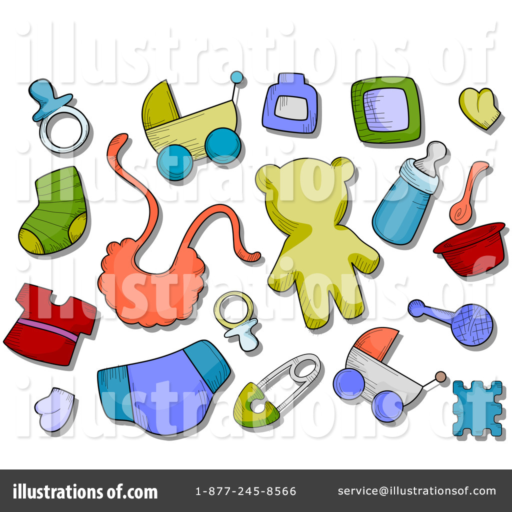 Royalty Free  Rf  Baby Items Clipart Illustration By Bnp Design Studio