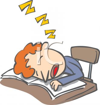 Sleeping In Class Clipart     Clip Art Illustration Of A Car