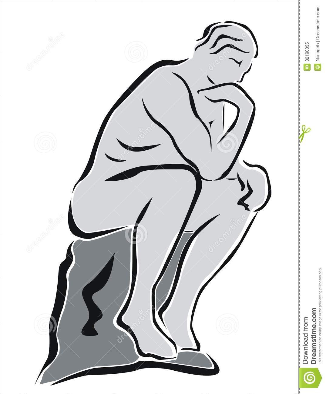 The Thinker Clipart The Statue Of The Thinker