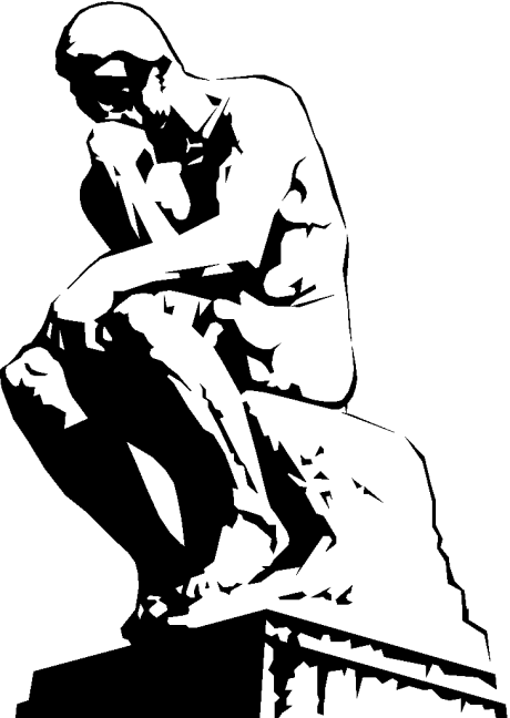 Thinker Black Clipart - Clipart Suggest
