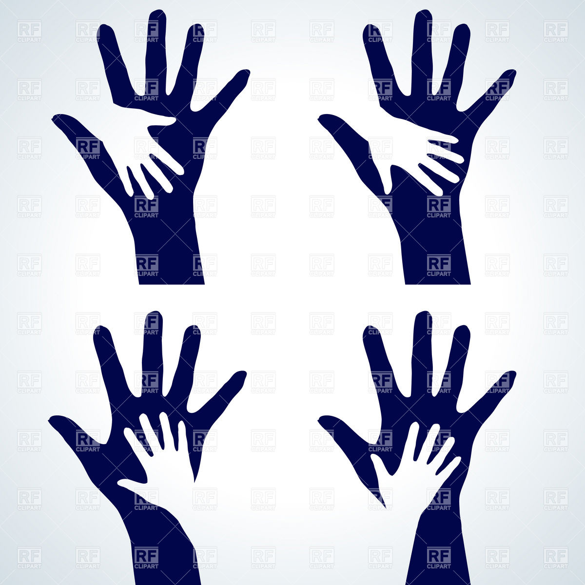 Two Hands Silhouette   Help Or Charity Symbol 7992 Download Royalty