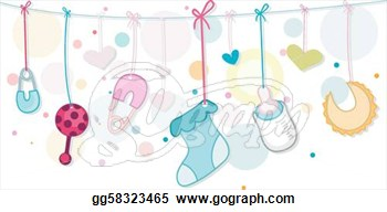 Vector Illustration   Baby Things  Eps Clipart Gg58323465   Gograph