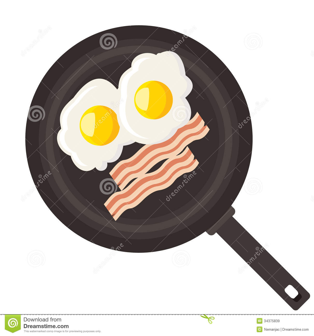 Bacon Black And White Clipart - Clipart Suggest