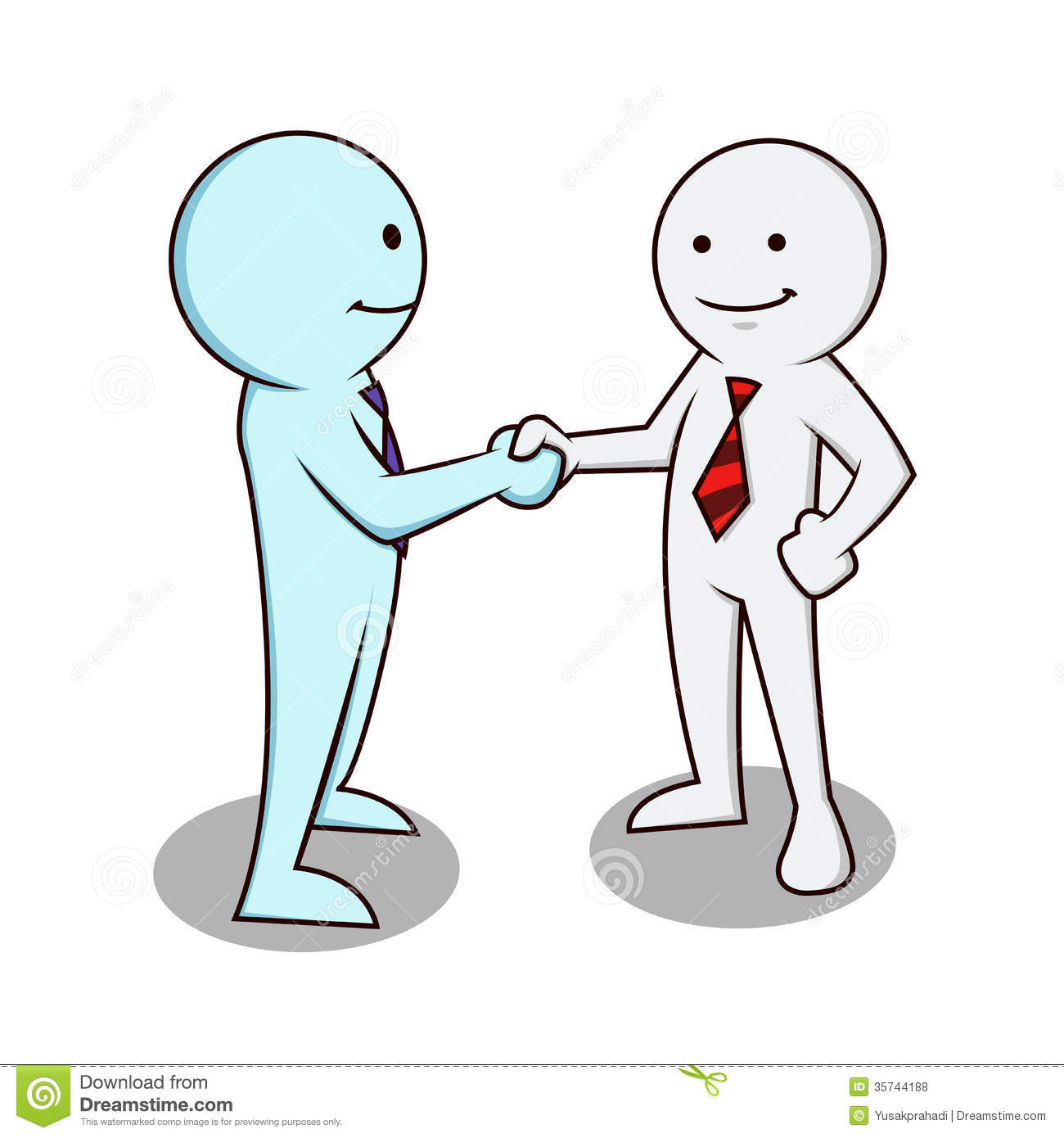 Business Man Shaking Hands Royalty Free Stock Photos   Image  35744188