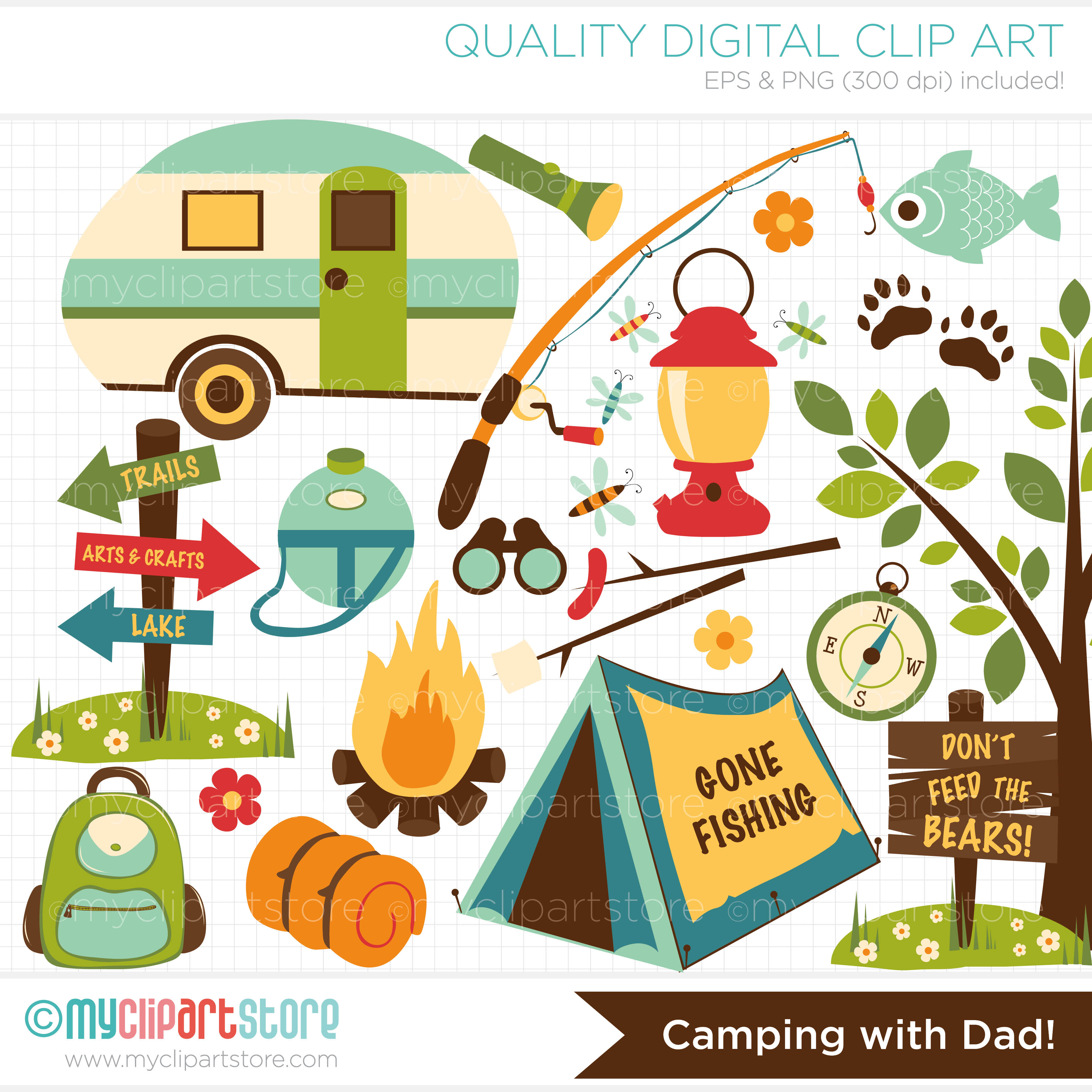 Clip Art Rv Camp Out Clipart - Clipart Suggest