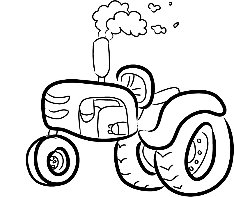 Case International Tractor Clipart