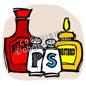 Clip Art  Condiments Color   Preview 1