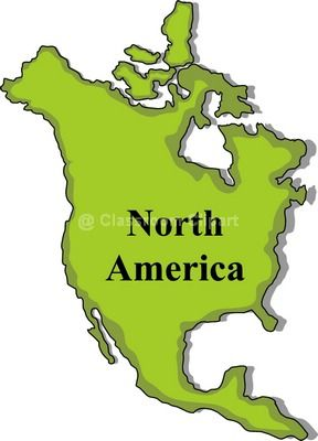 North America Continent Clipart - Clipart Kid