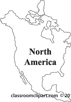 Clipart   North America Outline Map   Classroom Clipart