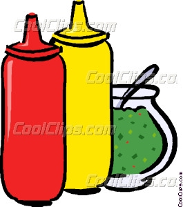 Condiments Vector Clip Art