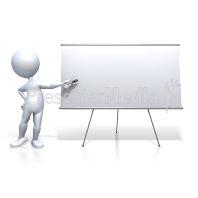 Figure Presenting Blank Board   Signs And Symbols   Great Clipart